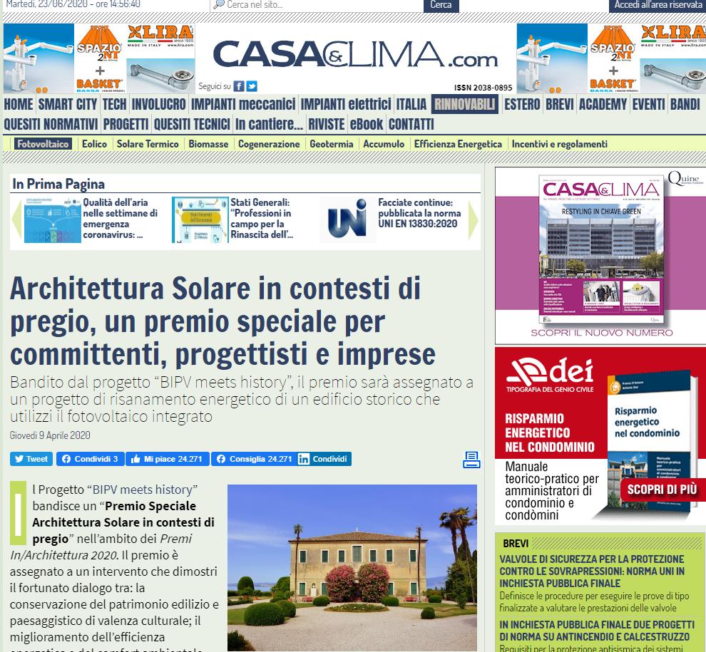 Casaeclima.com – Premio speciale