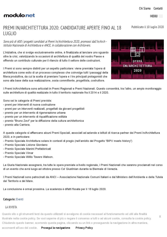 Modulo.net – Premio speciale