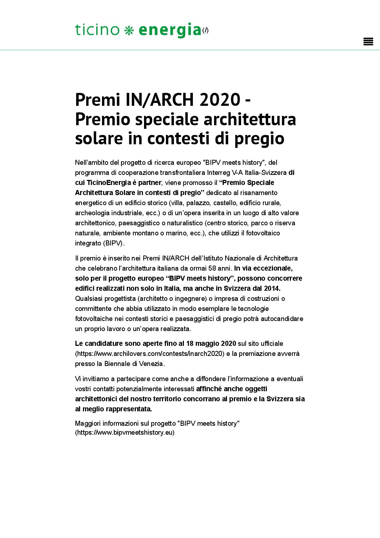 Ticino Energia – Premio speciale (en)