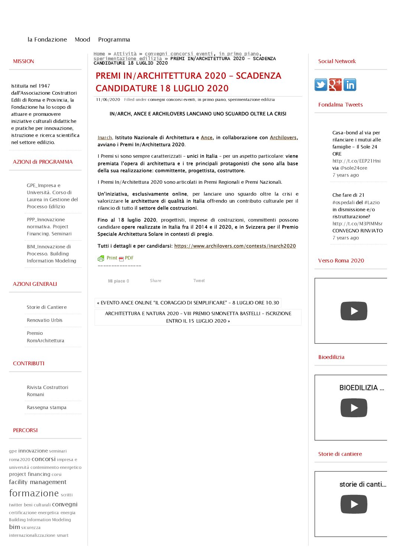 Fondazione Almagià – Premio speciale (en)