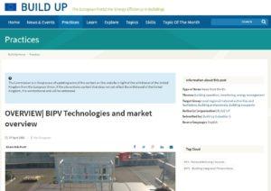 Read more about the article Articolo di trasferimento tecnologico: BIPV Technologies and market overview