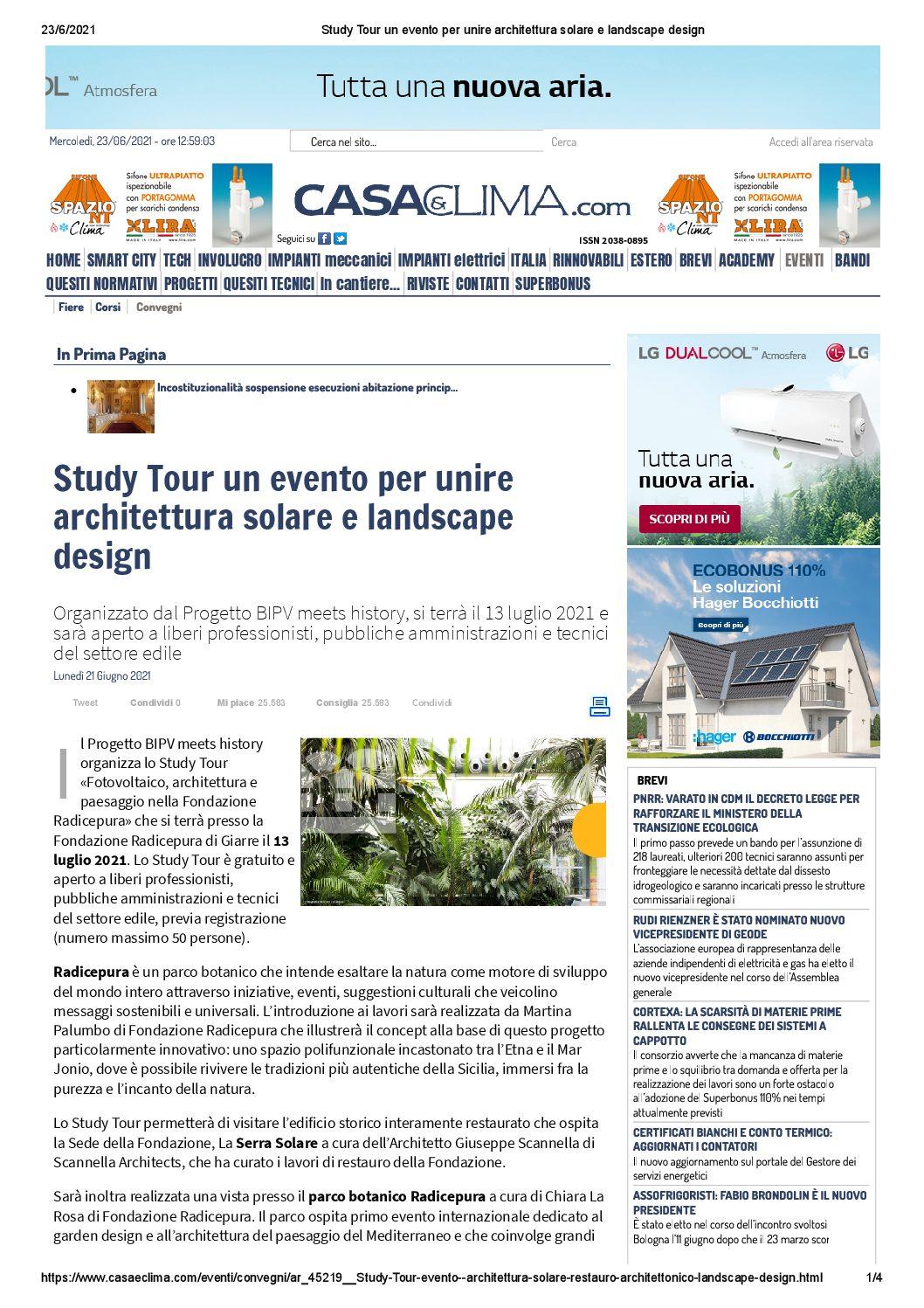 You are currently viewing Casaeclima.com – Study Tour a Radicepura
