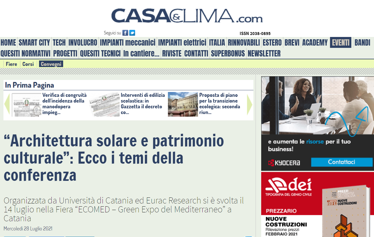 You are currently viewing Casaeclima.com – Conferenza a Ecomed